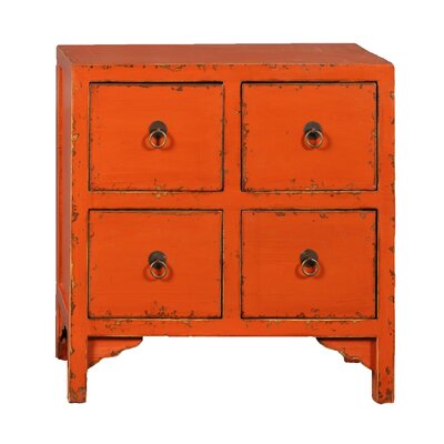 Bad credit financing End Table Finish: Orange...