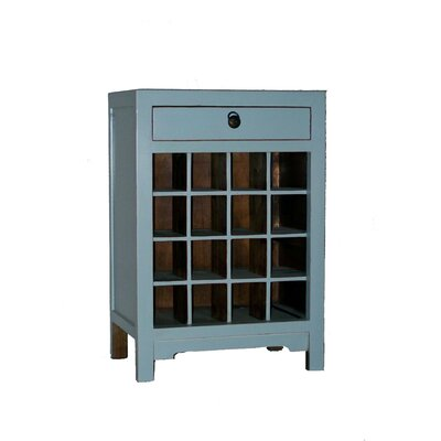 No credit financing Cabinet End Table Finish: Aqua...