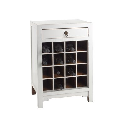 16 Bottle Floor Wine Cabinet Finish: White