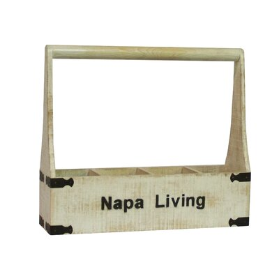 Napa Living 4 Bottle Tabletop Wine Rack