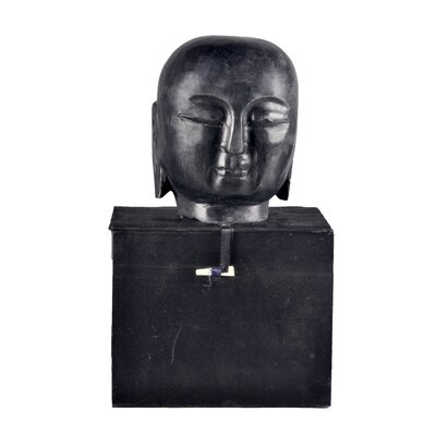 Asian Hand-carved Monk Head Bust Size: Large