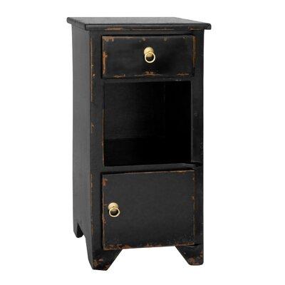 PL Home 1 Drawer Bistre Nightstand Color: Black
