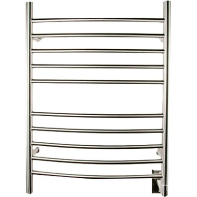 Wall Mount Electric Towel Warmer finish: Brushed