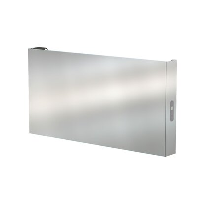Elory Wall Mount Electric Towel Warmer Finish: Brushed