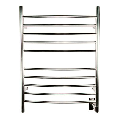 Wall Mount Electric Towel Warmer finish: Polished