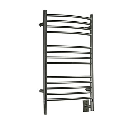 Jeeves Wall Mount Electric C Curved Towel Warmer Finish: Brushed