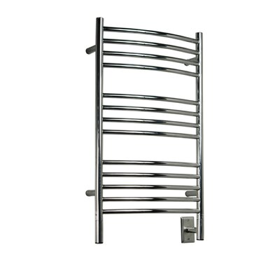 Jeeves Wall Mount Electric C Curved Towel Warmer Finish: Polished