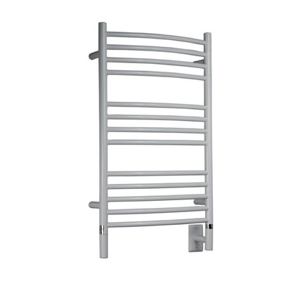 Jeeves Wall Mount Electric C Curved Towel Warmer Finish: White