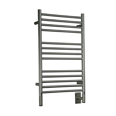 Jeeves Wall Mount Electric C Straight Towel Warmer Finish: Brushed
