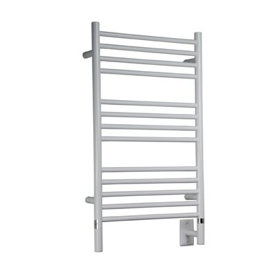 Jeeves Wall Mount Electric C Straight Towel Warmer Finish: White