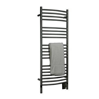 Jeeves Wall Mount Electric D Curved Towel Warmer Finish: Brushed
