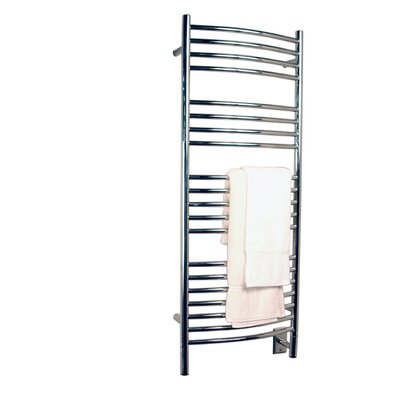 Jeeves Wall Mount Electric D Curved Towel Warmer Finish: Polished