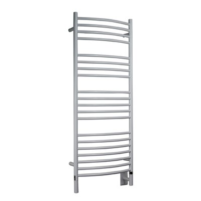 Jeeves Wall Mount Electric D Curved Towel Warmer Finish: White