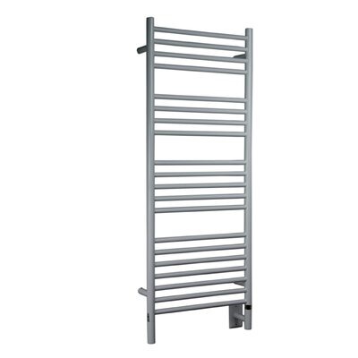 Jeeves Wall Mount Electric D Straight Towel Warmer Finish: White