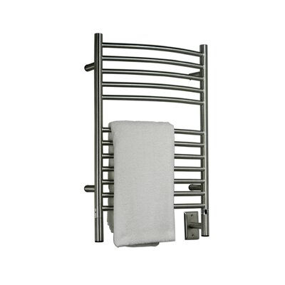 Jeeves Wall Mount Electric E Curved Towel Warmer Finish: Brushed