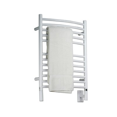 Jeeves Wall Mount Electric E Curved Towel Warmer Finish: White