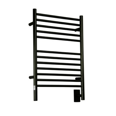 Jeeves Wall Mount Electric E Straight Towel Warmer Finish: Oil Rubbed Bronze