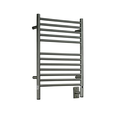 Jeeves Wall Mount Electric E Straight Towel Warmer Finish: Brushed