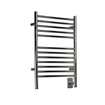 Jeeves Wall Mount Electric E Straight Towel Warmer Finish: Polished