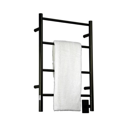 Jeeves Wall Mont Electric I Straight Towel Warmer Finish: Oil Rubbed Bronze