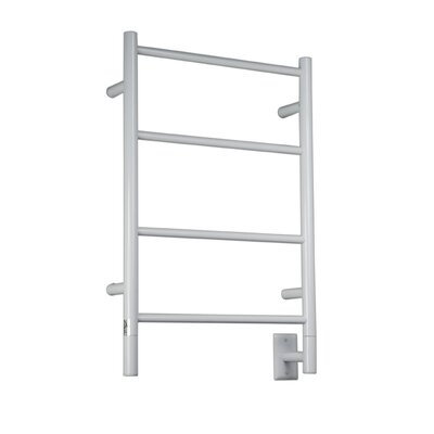 Jeeves Wall Mont Electric I Straight Towel Warmer Finish: White