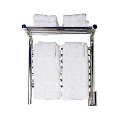 Jeeves Wall Mount Electric M Shelf Straight Towel Warmer Finish: Polished