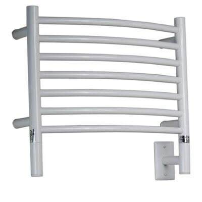 Jeeves Wall Mount Electric H Curved Towel Warmer Finish: White
