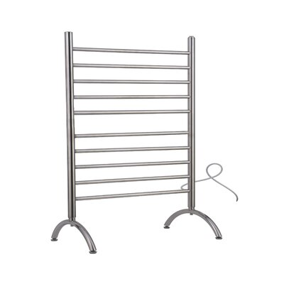 Solo Freestanding Electric Towel warmer Finish: Polished, Size: 38 H x 32.5 W x 15 D