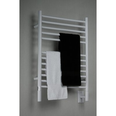 Jeeves Wall Mount Electric E Straight Towel Warmer Finish: White