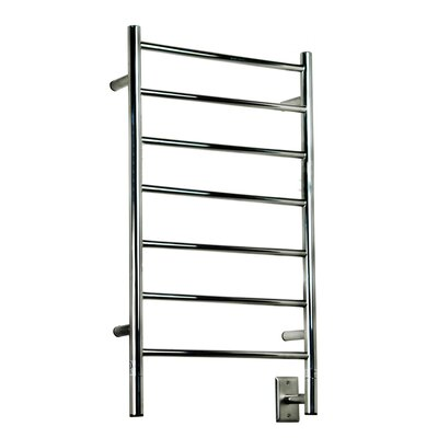 Jeeves Wall Mount Electric F Straight Towel Warmer Finish: Polished