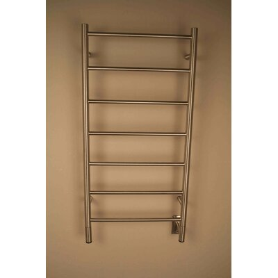 Jeeves Wall Mount Electric F Straight Towel Warmer Finish: Brushed