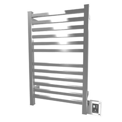 Quadro Wall Mount Electric Towel Warmer Finish: Polished