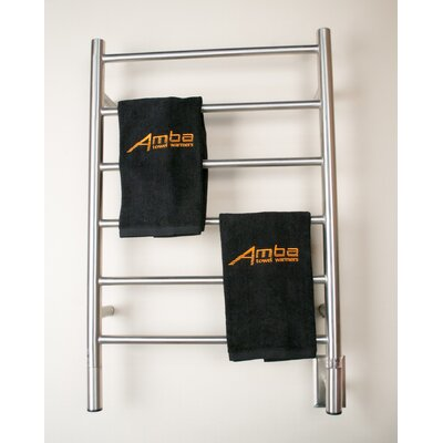Jeeves Wall Mount Electric J Straight Towel Warmer Finish: Brushed