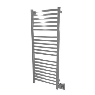 Quadro Wall Mount Electric Towel Warmer Finish: Brushed
