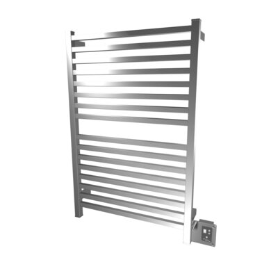 Quadro Wall Mount Electric Dual Purpose Radiator Finish: Brushed