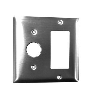 Jeeves Double Gang Plate Finish: Stainless Steel