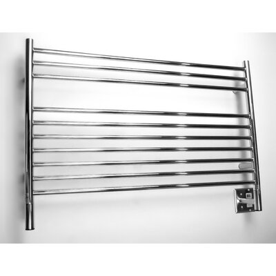 Jeeves Wall Mount Electric L Straight Towel Warmer Finish: Polished