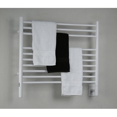 Jeeves Wall Mount Electric K Straight Towel Warmer Finish: White