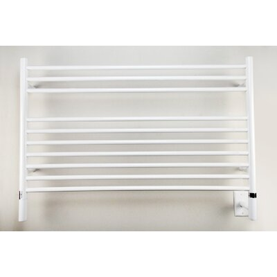 Jeeves Wall Mount Electric L Straight Towel Warmer Finish: White