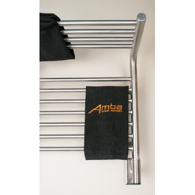 Jeeves Wall Mount Electric M Shelf Straight Towel Warmer Finish: Brushed