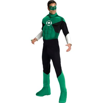 Rubies Justice League Lantern Muscle Adult Costume Rubies Justice League Lantern Muscle Adult Costume