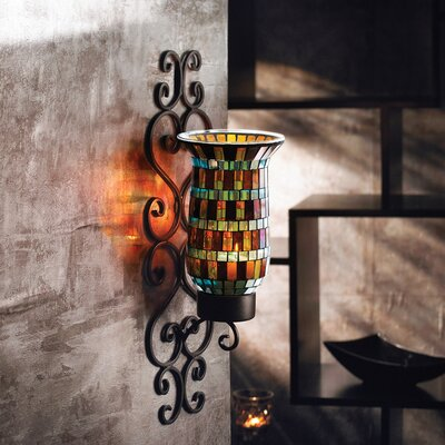 Northerington Metal/Glass Wall Sconce