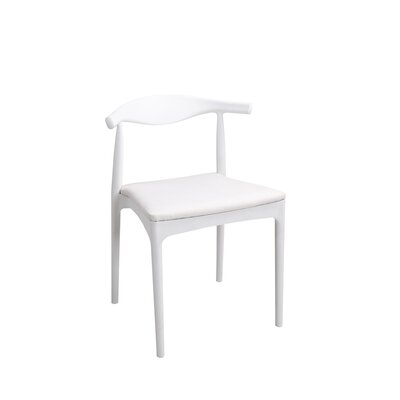 Bucky Side Chair Finish: White, Upholstery: White