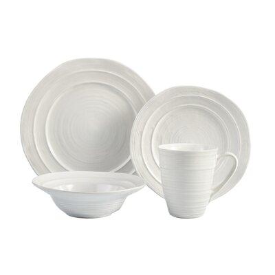 Travertine 16 Piece Dinnerware Set, Service for 4