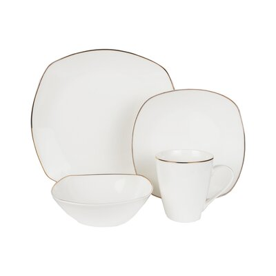 Meriden Bone China 16 Piece Dinnerware Set, Service For 4 ALTH2820 42395410