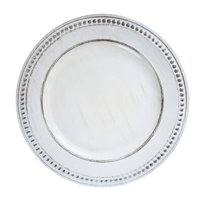 "14"" Melamine Beaded Charger (Set of 4)"