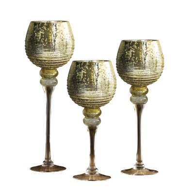 Bentley 3 Piece Glass Hurricane Set