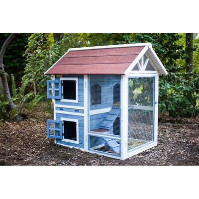The Row House Rabbit Hutch Color: Tan