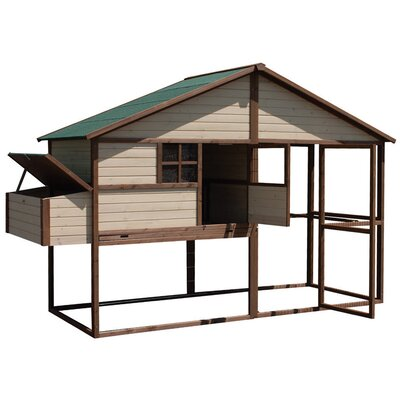 Arts and Crafts Tuscan Villa Chicken Coop
