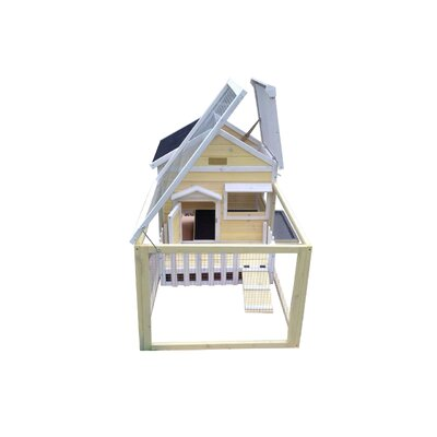 The White Picket Fence Rabbit Hutch Color: Yellow